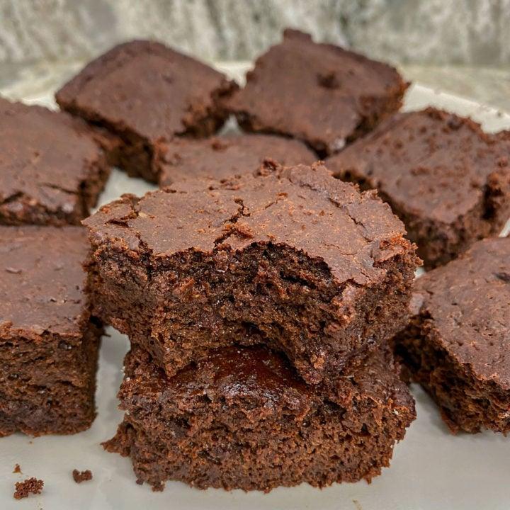 Keto protein brownies