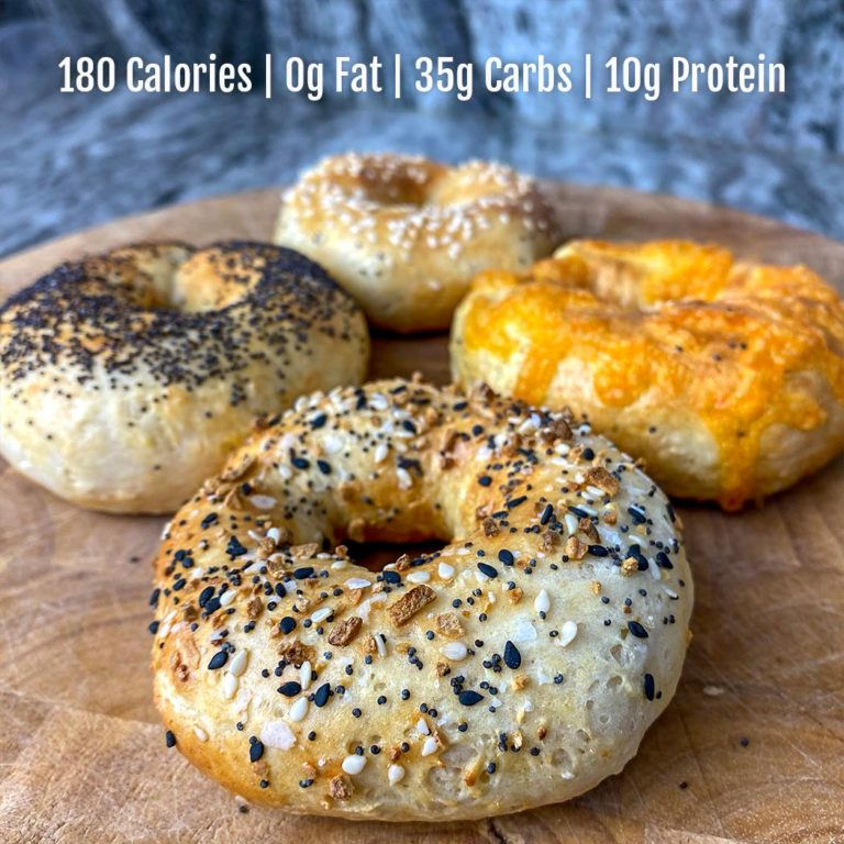 2 Ingredient Protein Bagels