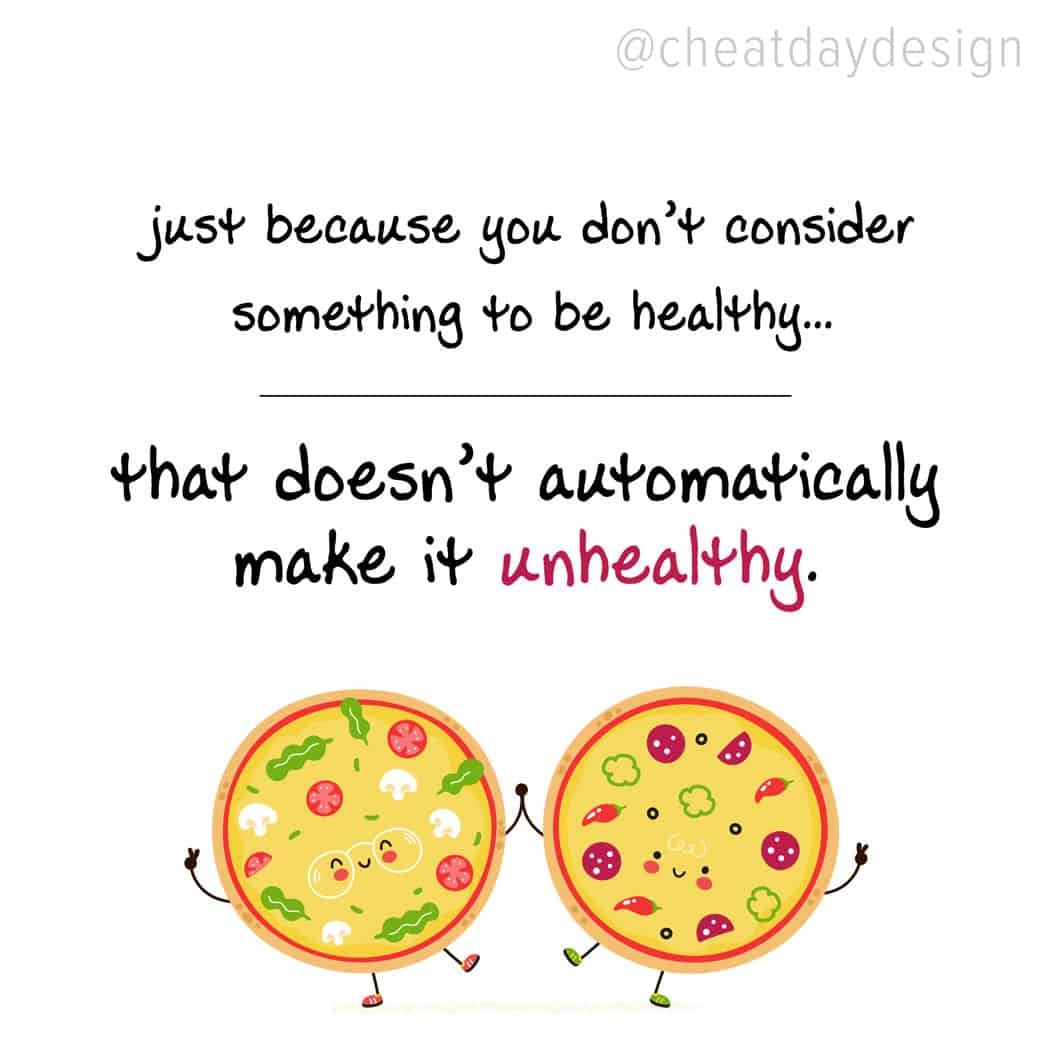 Not healthy doesn't mean unhealthy