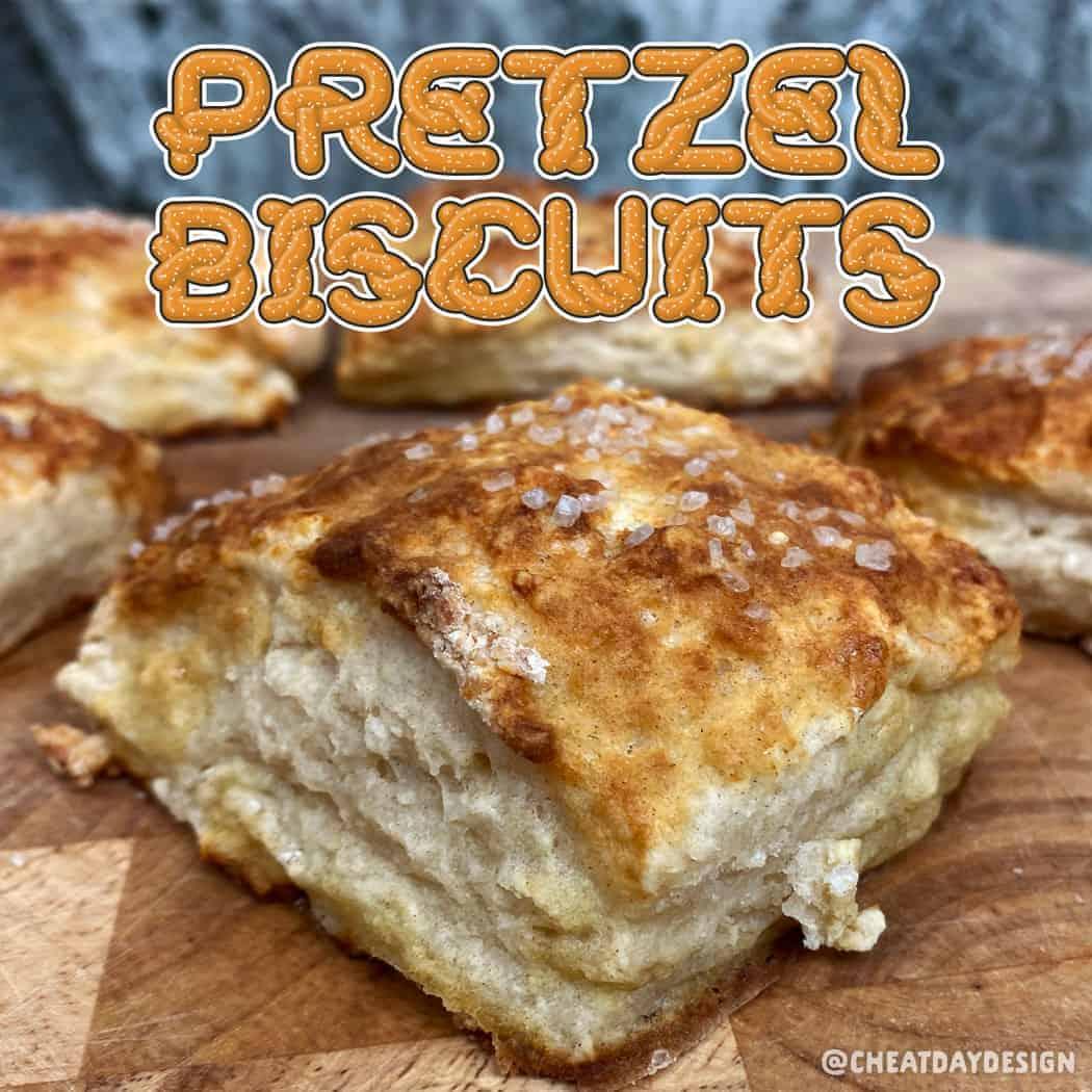 Healthy Soft Pretzel Biscuits
