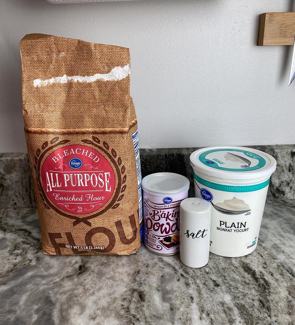 Ingredients for bagels