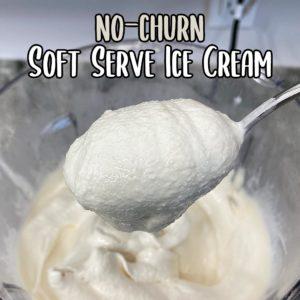 No Churn Soft Serve Vanilla Ice Cream