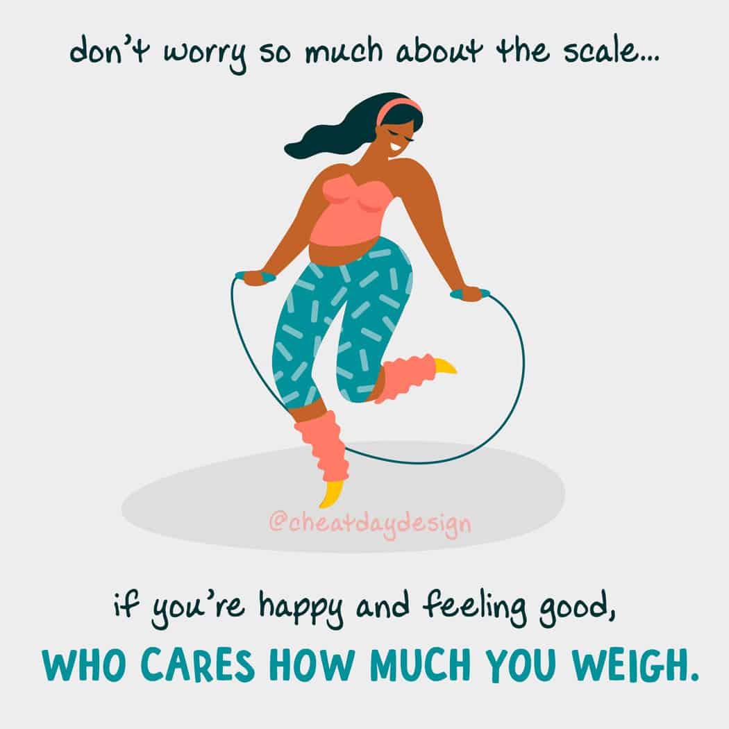 Don't worry about the number on the scale