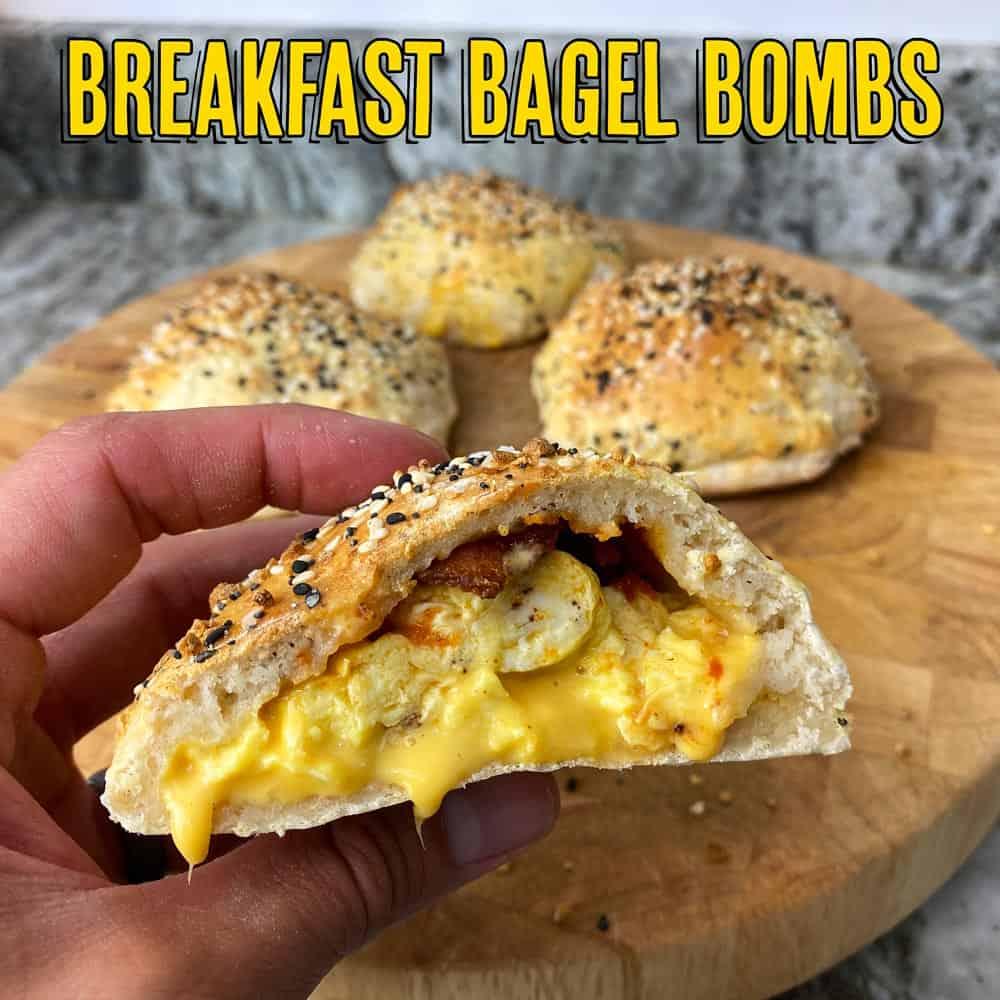 Breakfast Bagel Bombs