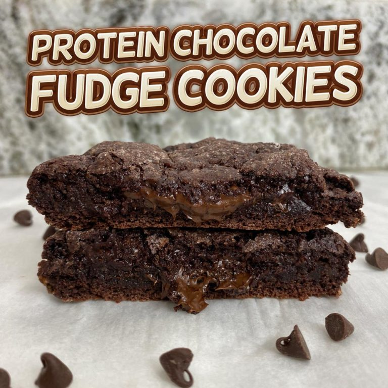 Protein Chocolate Fudge Cookies