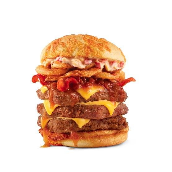 Big Bacon Cheddar Triple Wendy's