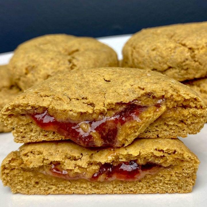 PB&J Protein Cookies