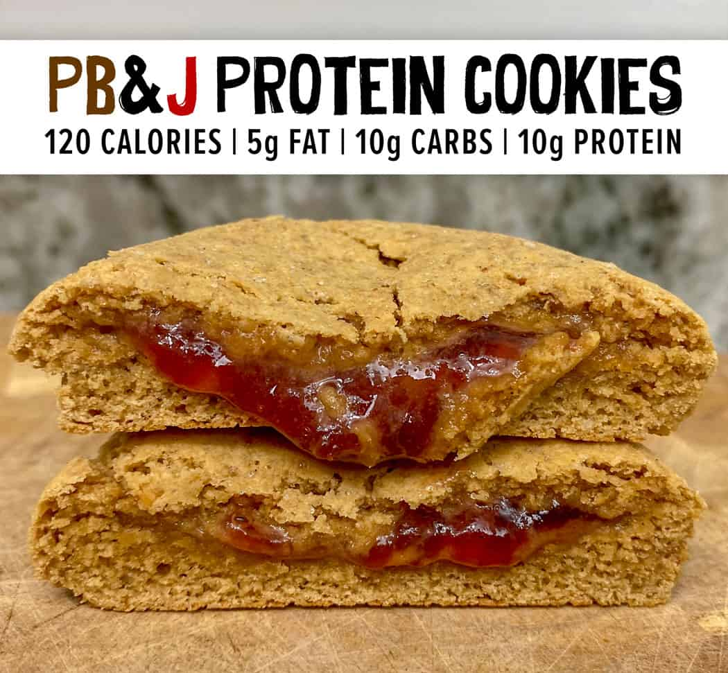 Peanut Butter & Jelly Protein Cookies