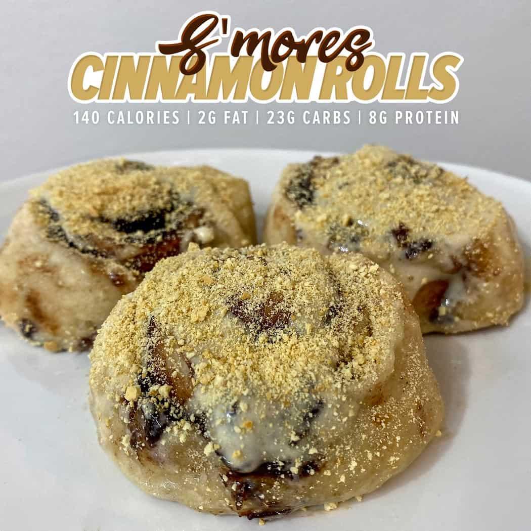 Protein S'mores Cinnamon Rolls