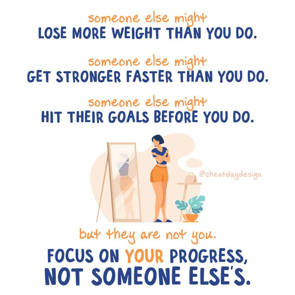 Dont compare your progress to someone else's