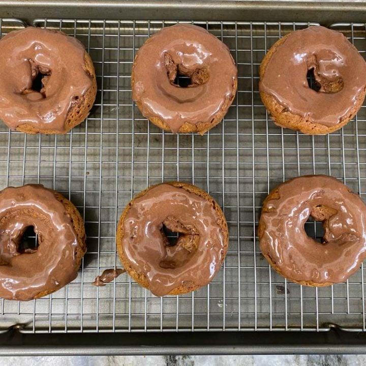 Chocolate Pumpkin Protein Donuts