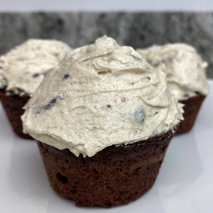 Oreo Protein Cupcakes