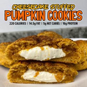 High protein pumpkin cheesecake cookies