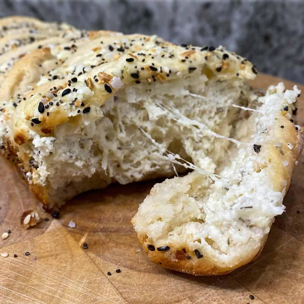 Everything bagel pull apart bread recipe
