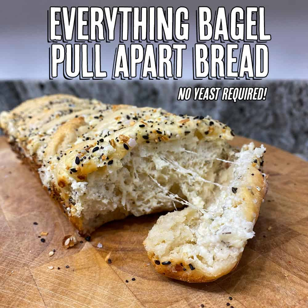 Healthy Everything Bagel Pull Apart Bread