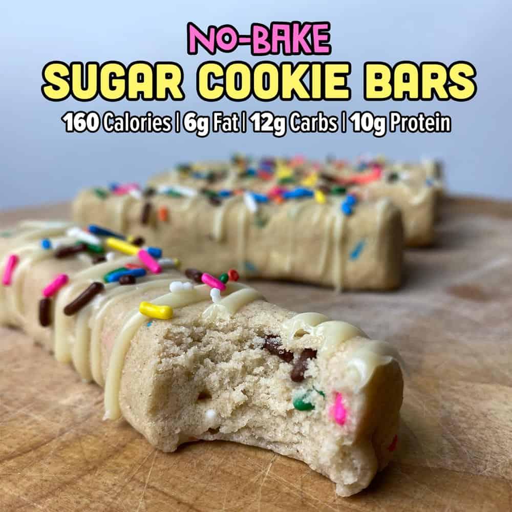 No Bake Sugar Cookie Protein Bars