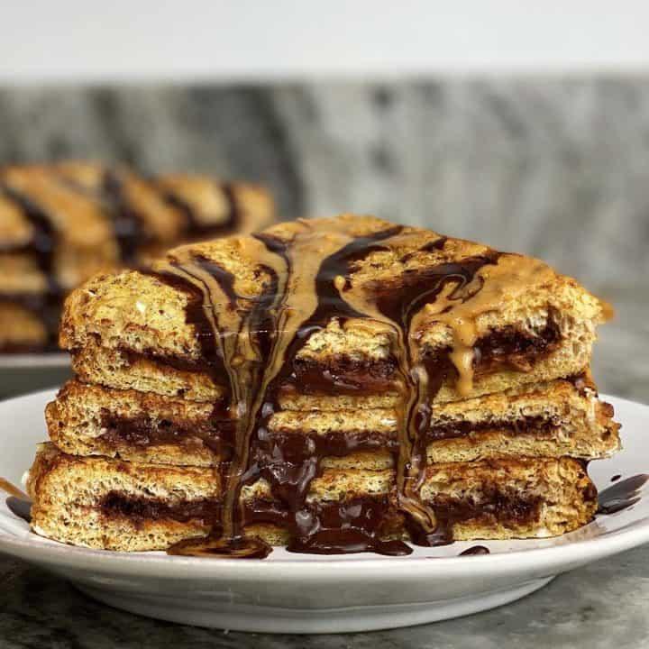 Peanut Butter Chocolate Stuffed French Toast