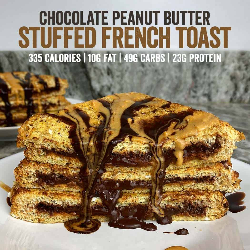Chocolate Peanut Butter Stuffed French Toast