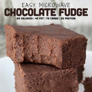Easy microwave chocolate fudge
