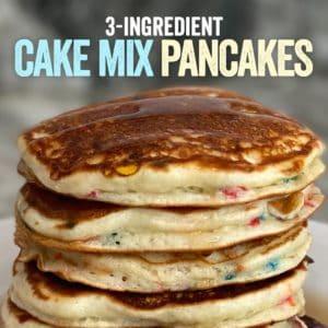 3-Ingredient Protein Cake Mix Pancakes