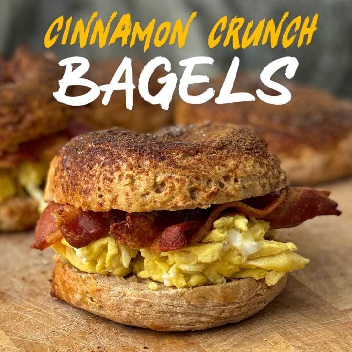 Healthier Cinnamon Crunch Bagels