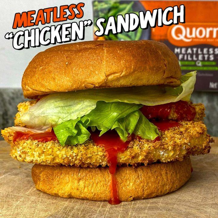 """Meatless Crispy """"Chicken"""" Sandwich"""