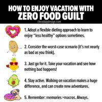 Avoiding food guilt on vacation