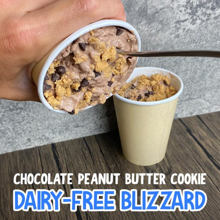 Dairy-Free Chocolate Peanut Butter Cookie Dough Blizzard