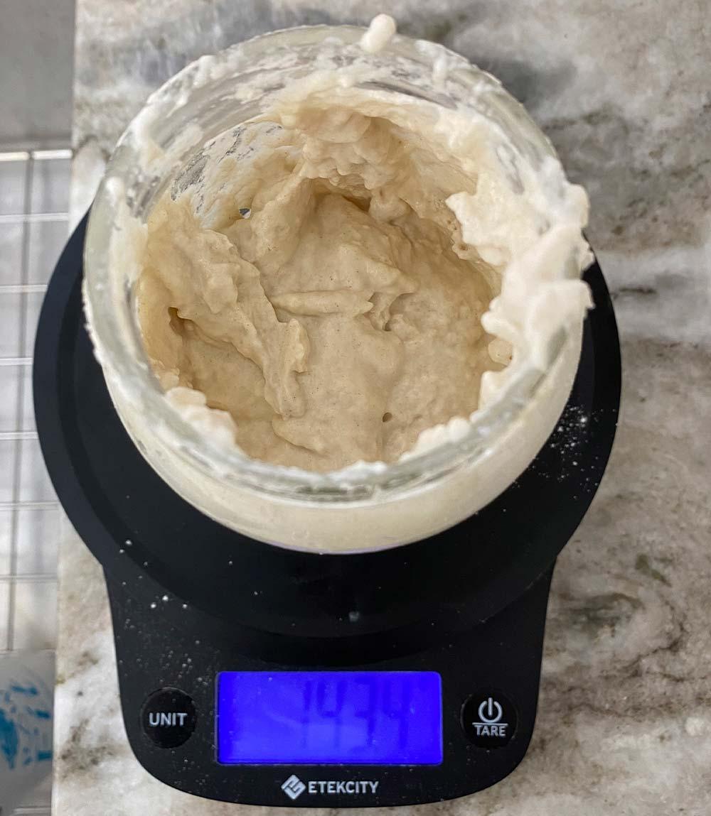 Sourdough Starter after mixing