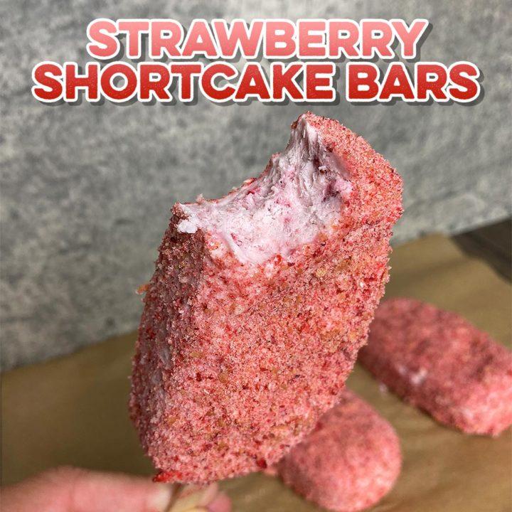 Healthy Strawberry Shortcake Ice Cream Bars