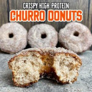 Crispy Protein Churro Donuts