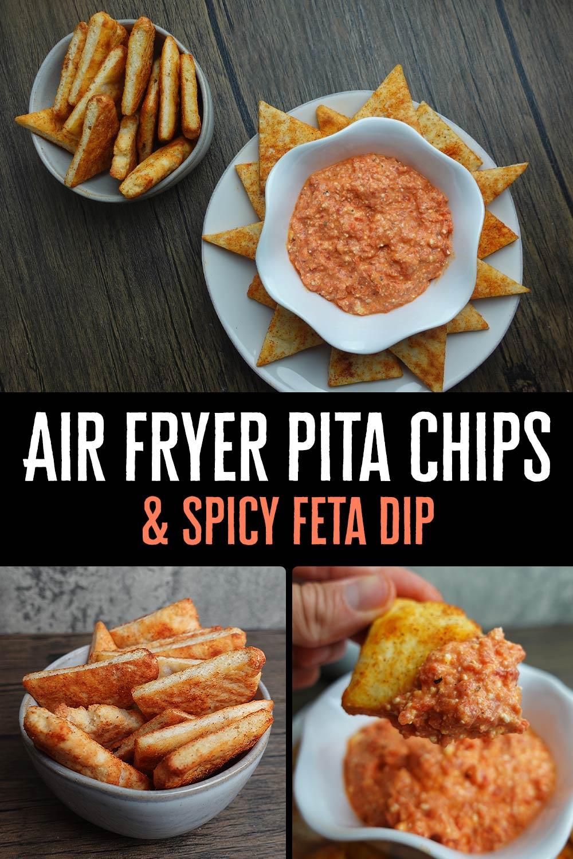 Air Fryer Pita Chips & Spicy Feta Dip