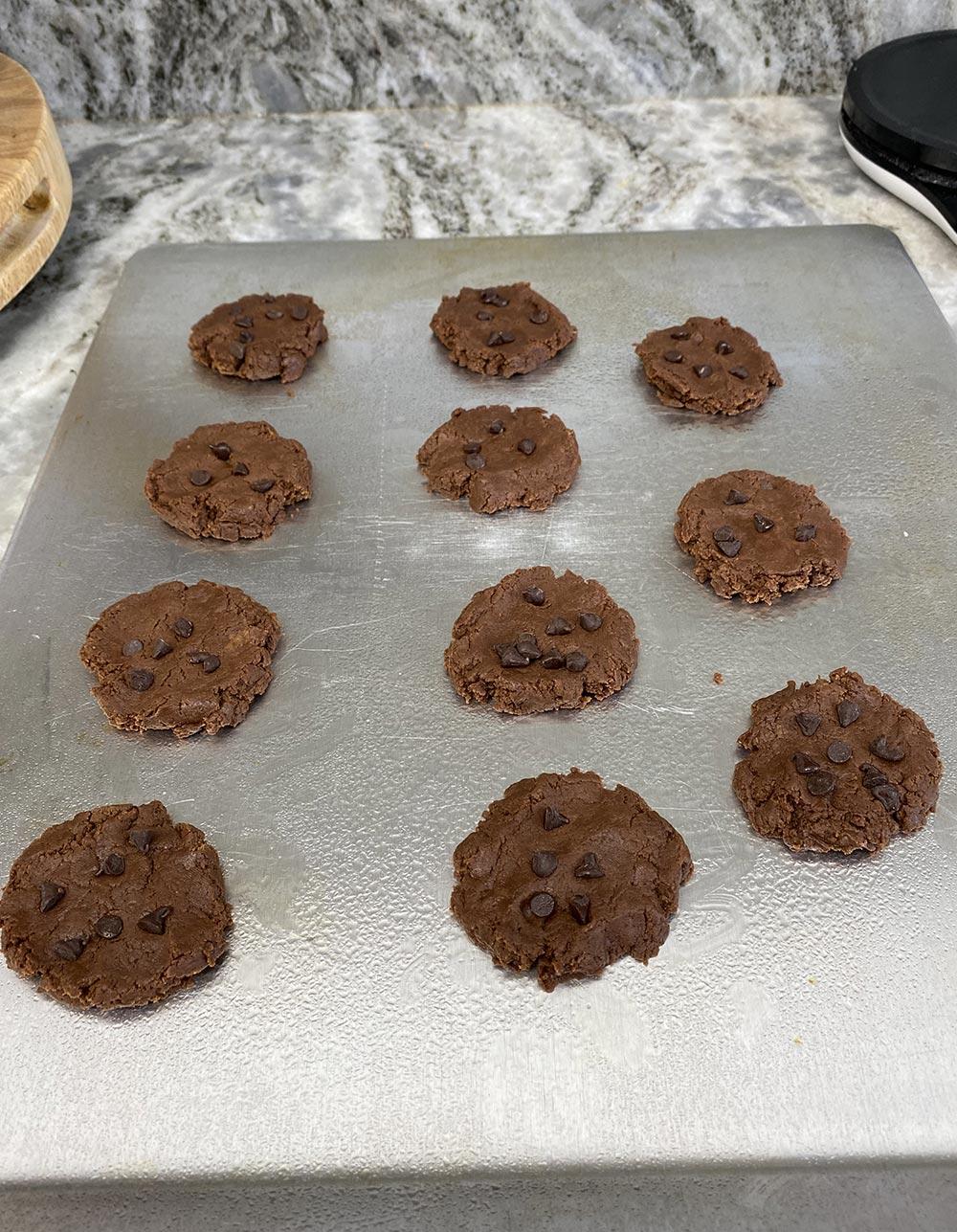 Nutella cookies before baking