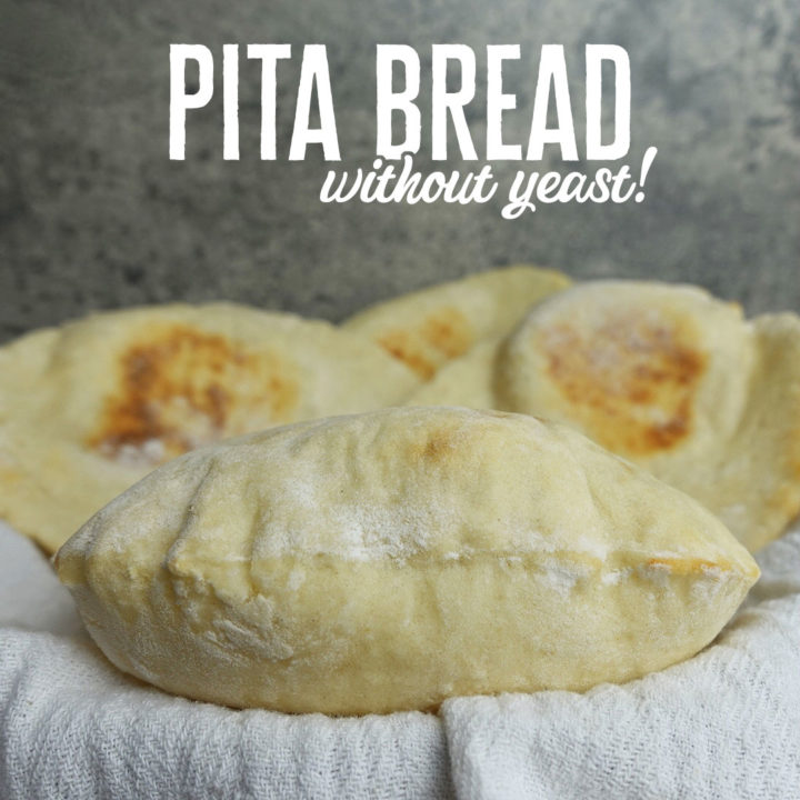 Pita Bread Without Yeast – The Easiest Homemade Pita Recipe