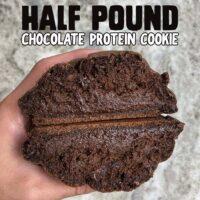 Half pound chocolate protein cookie