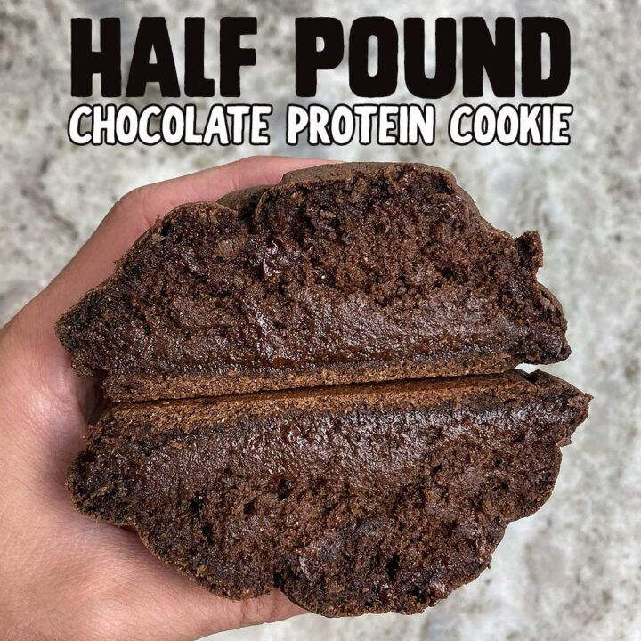 Half Pound Chocolate Protein Cookie with 50g Protein