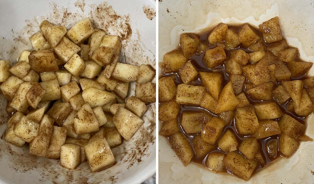 Cooked down apples