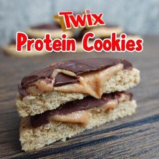 Twix Protein Cookies